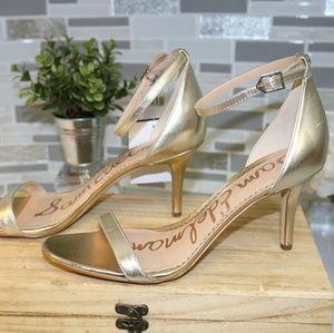 NEW sam edelman gold heels